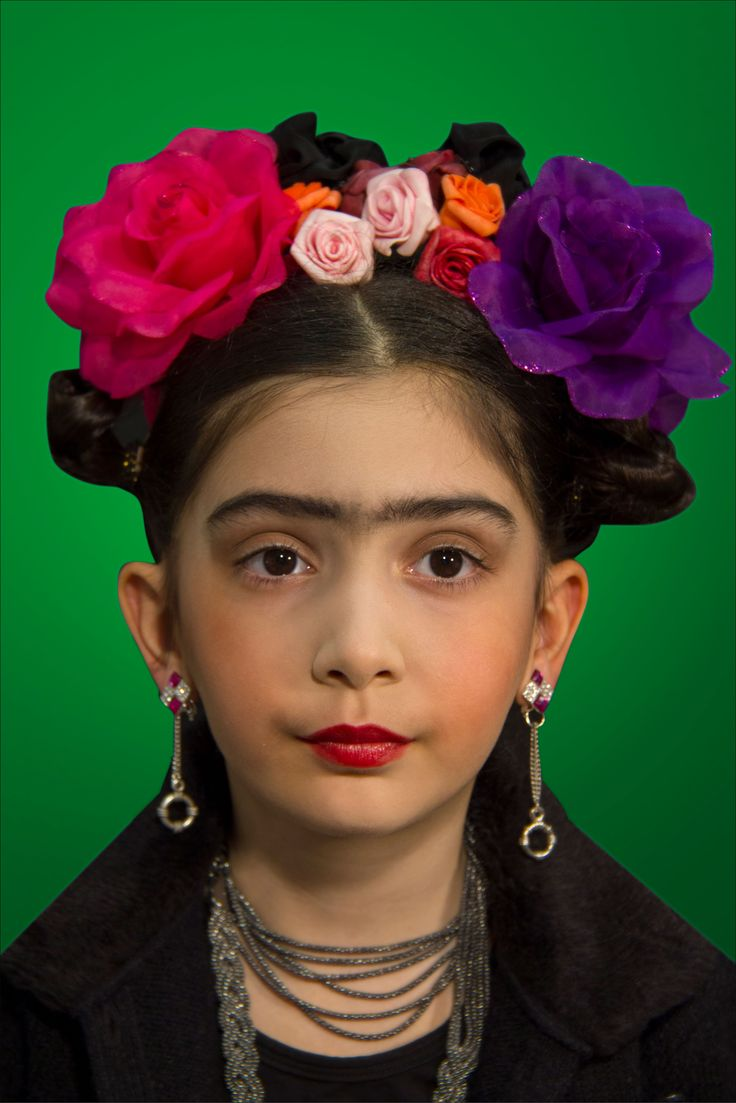 Ustalar ve çocuklar sergisinden bir kare,Frida Kahlo dan ilham aldık.