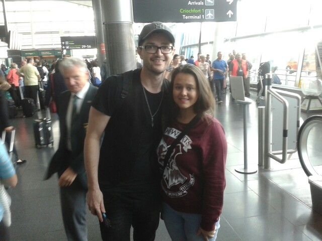 Me and Danny from the script at Dublin Airport ♥
