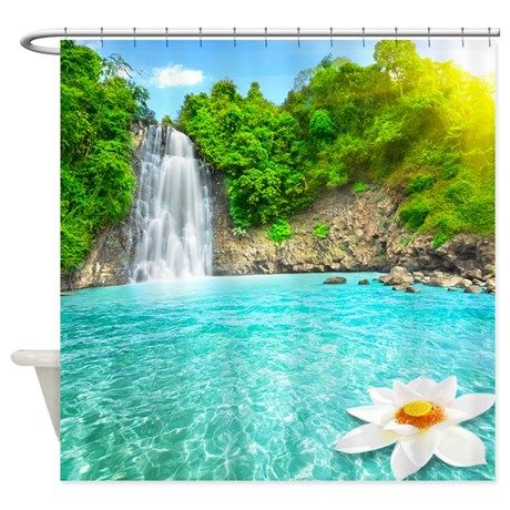 Amazing Lotus Waterfall Shower Curtain On CafePress.com