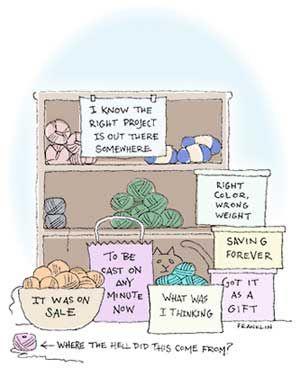 #Yarn stash -  organization is never easy.
