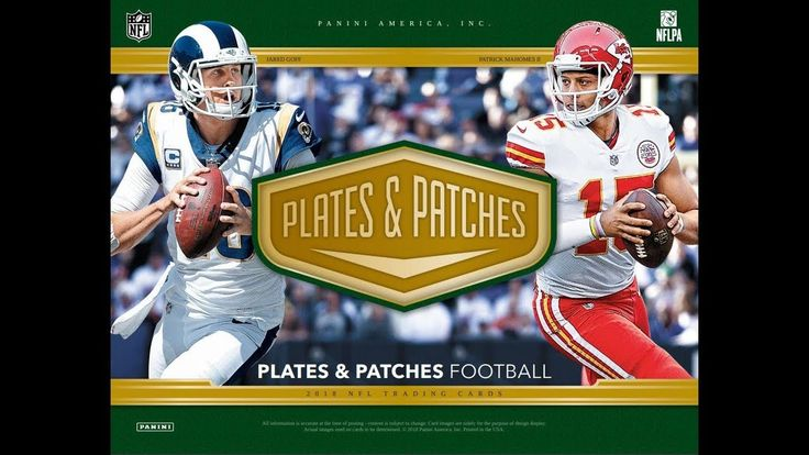 2018 panini plates patches 6 x hobby box pyt 001
