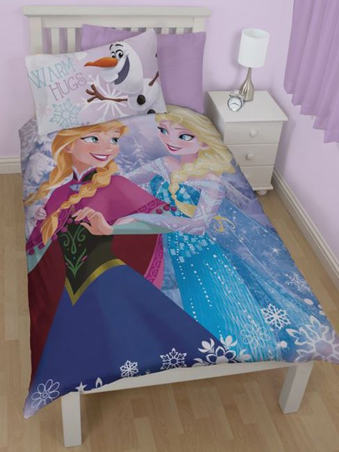 Disney Frozen Crystal Single Duvet Cover Set - Reversible Bedding Panel Doona Cover Design - Great quilt cover set for any Frozen movie fan