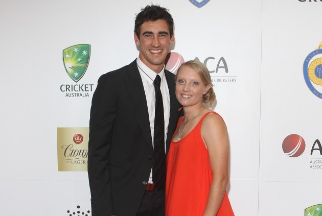 Mitch Starc with Southern Star girlfriend Alyssa Healy