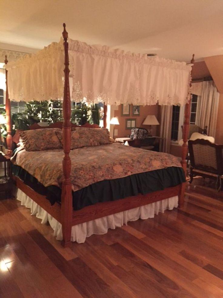 CANOPY BED- DIY READY TO HANG BATTENBURG LACE OR CUTWORK VALANCES http://bit.ly/1TTa9ey #BATTENBURG