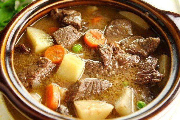 Тушеная говядина с овощами | Кулинарные Рецепты