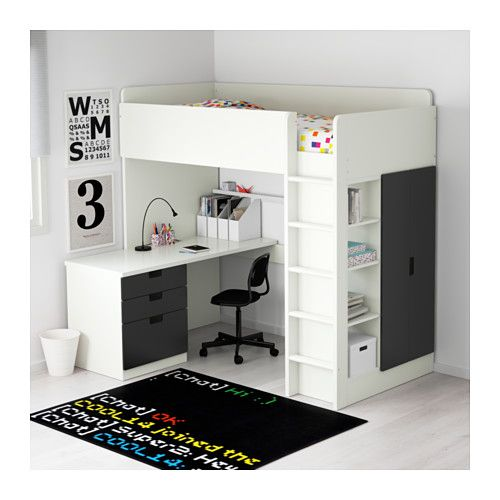 17 best ideas about loft bed desk on pinterest bunk bed with desk bunk bed desk and awesome beds. Black Bedroom Furniture Sets. Home Design Ideas