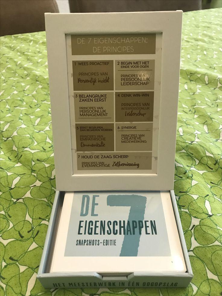 In plaats van een bloemetje op tafel, de 7 eigenschappen van Stephen Covey. Helder gevisualiseerd en in handbereik. Theorie, met karakter en discipline, praktisch implementeren 💐