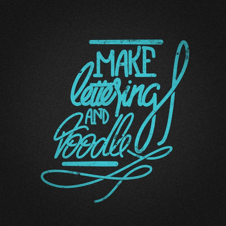 Make Lettering and Doodle