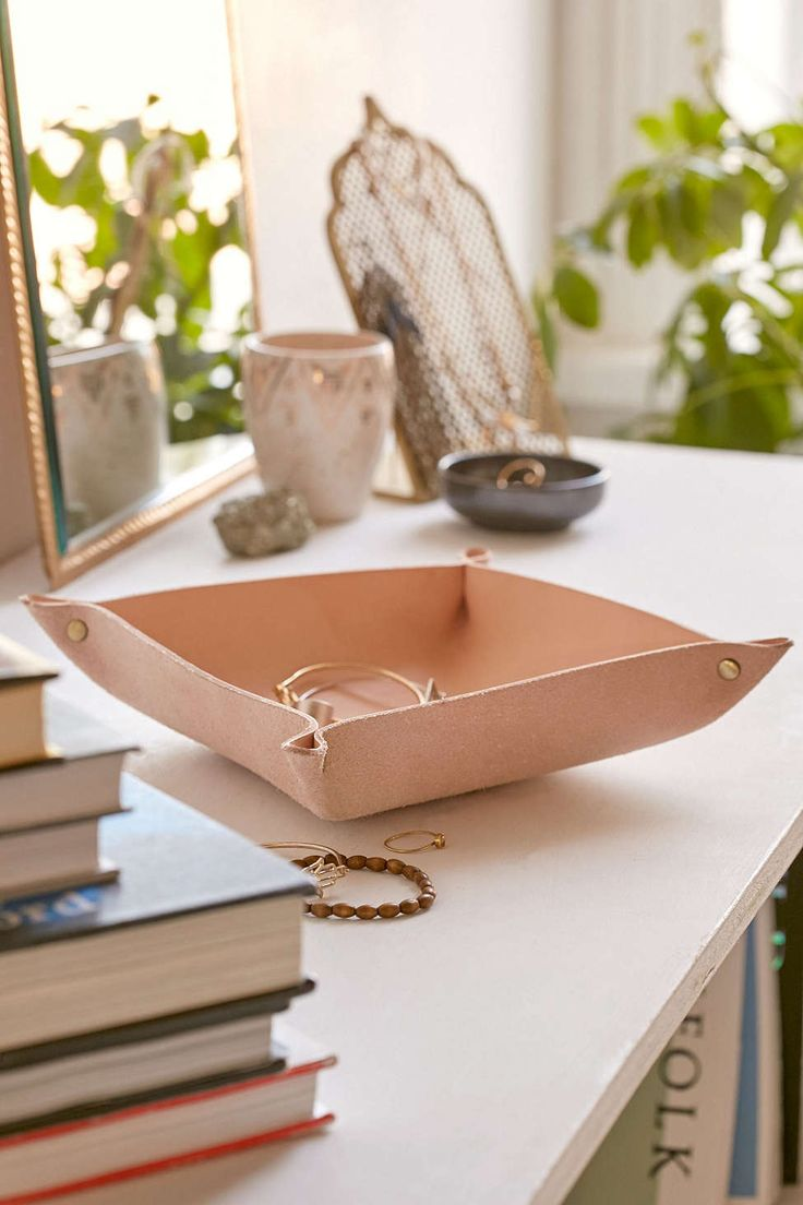 4040 Locust Leather Catch-All Dish - Urban Outfitters