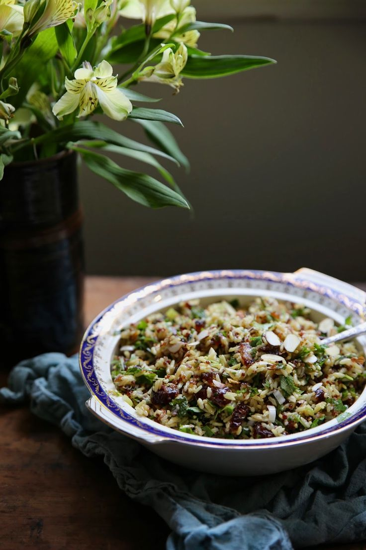 petite kitchen: PERSIAN BROWN RICE & QUINOA SALAD PACKED WITH HERBS