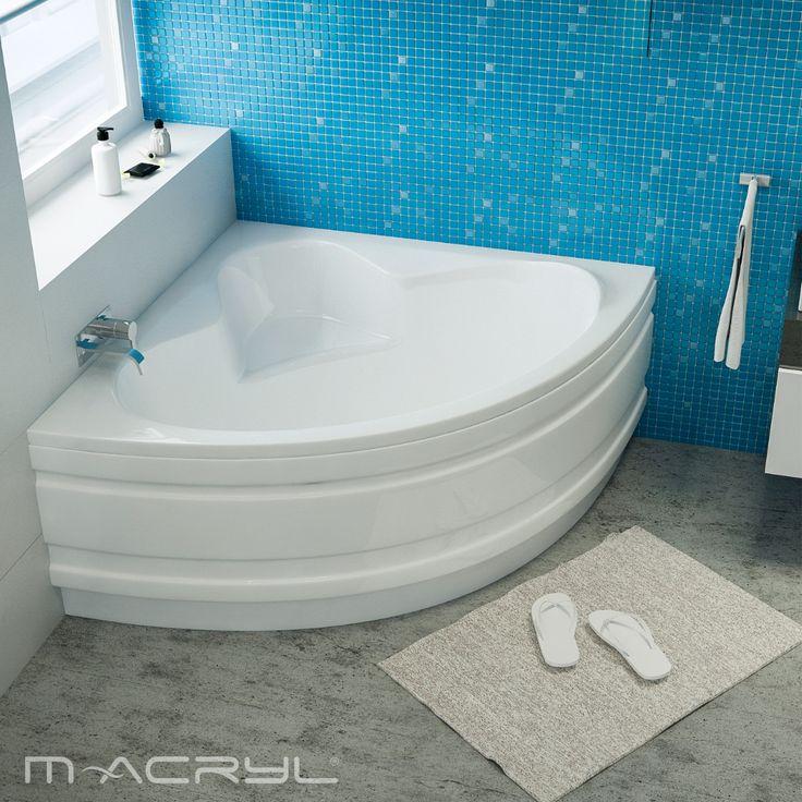 A legváratlanabb sarokkád. A szűk hely miatt már lemondott a sarokkádról? Az Ida minden sarokba befér. #sarokkád #idasarokkád #macryl #macrylkád #macrylkádak #akrilkád #fürdés #fürdőszoba #relax #kikapcsolódás #lakberendezés #inspiráció #belsőépítészet #minőség #design #health #bathroom #interiordesign #legkisebb #panelba