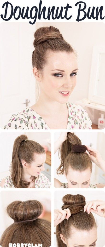 exactly how I do my donut bun. sometimes I twist the remaining hair before swirling it around the bun and pinning it.