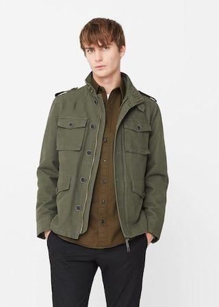 Field jacket algodón textura | MANGO MAN