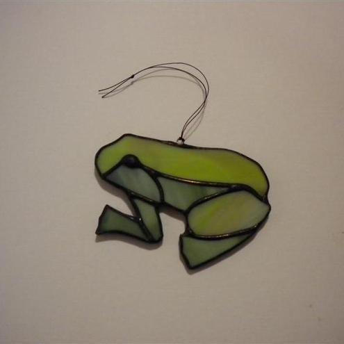 Stained glass Frog hanging ornament decoration suncatcher