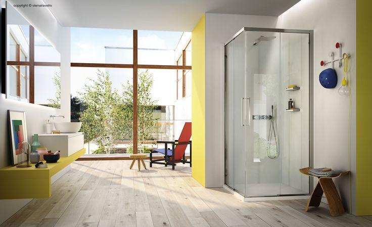 Serie 7000 La cabina doccia scorrevole in 6 mm con profili ridotti - #bathroom #bathroomdesign #bath #showerthis #bathtub #showerenclosure #boxdoccia #cabinadoccia