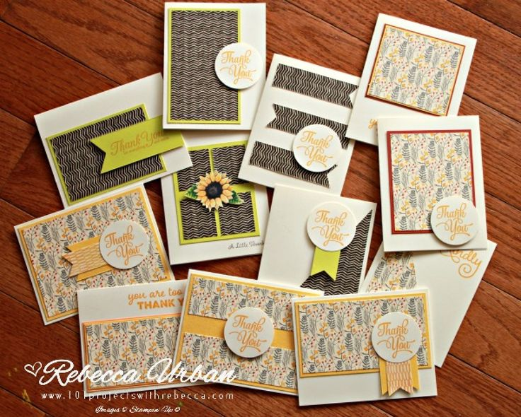 One Sheet Wonder with Painted Autumn - 101 Projects with Rebecca