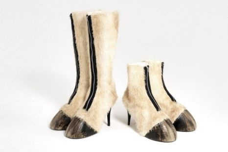 Designer shoes made in the style of real horse feet and legs are set to go on sale at the Cheltenham Festival  http://www.metro.co.uk/weird/858061-horse-shoes-for-humans-are-hot-to-trot-at-cheltenham-festival
