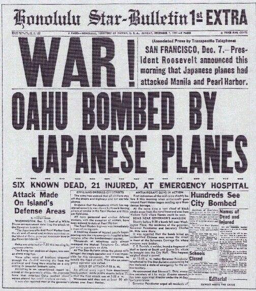 Honolulu Star newspaper headlines
