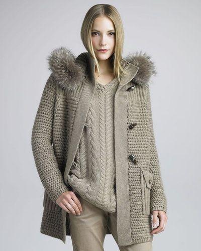 Desert double breasted wool coat