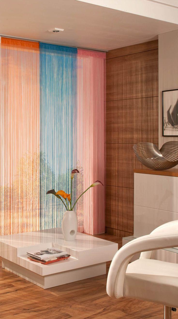 Flächenvorhang mit Bambus Effekt