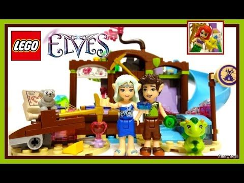 Lego Elves 41177 The Precious Crystal Mine set part 1 - Unboxing, Speed ...