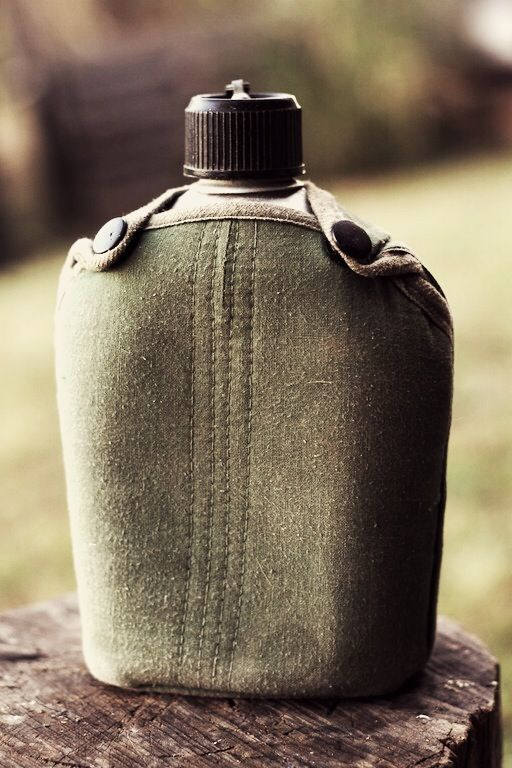 old army water canteen