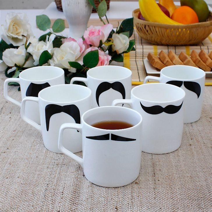 ClayCraft Director Moustech Coffe Mug Set of Six,Coffee & Tea Sets $8