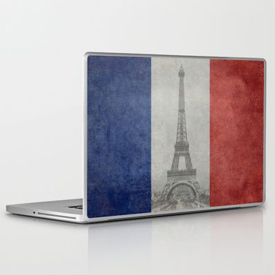 National Flag of France - Vintage Version Laptop & iPad Skin