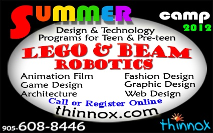 Academy of Design & Technology - Thinnox, Mississauga, Ontario: Summer Day Camp for ages 6 to 18.