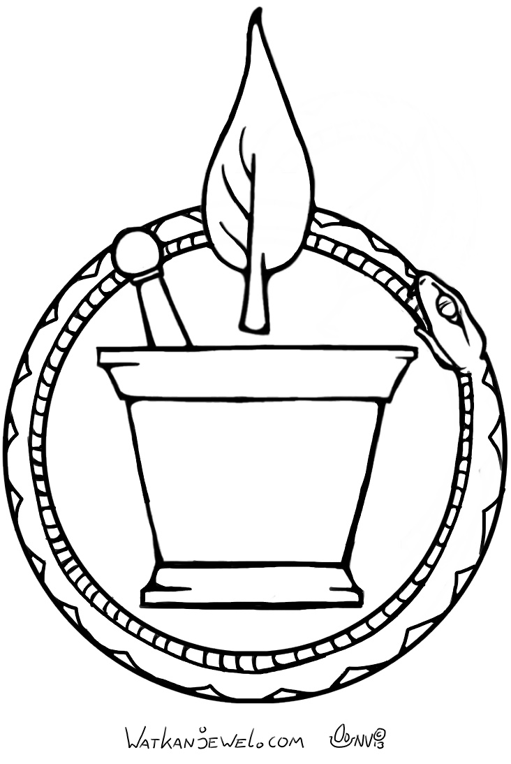Medicine guild symbol, larp TerraX (Medecins) for GamesnStuff