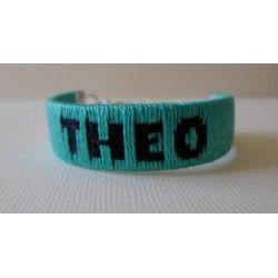 Bracelet prénom tissé écriture 1