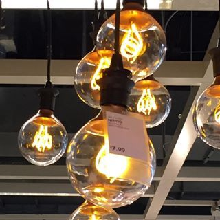 New LED IKEA NITTIO bulbs look exactly like classic Edison bulbs!  http://www.ikea.com/us/en/catalog/products/10317348/
