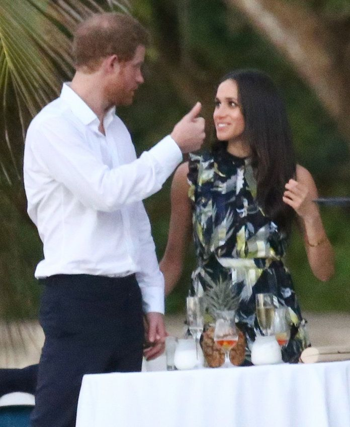 Prince Harry Holds Meghan Markle's Hand at a Friend's Wedding in Jamaica | InStyle.com