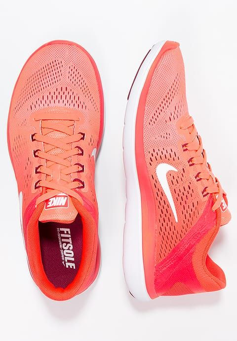 Nike Performance FLEX 2016 RUN - Chaussures de running compétition - bright mango/white/bright crimson/noble red - ZALANDO.FR