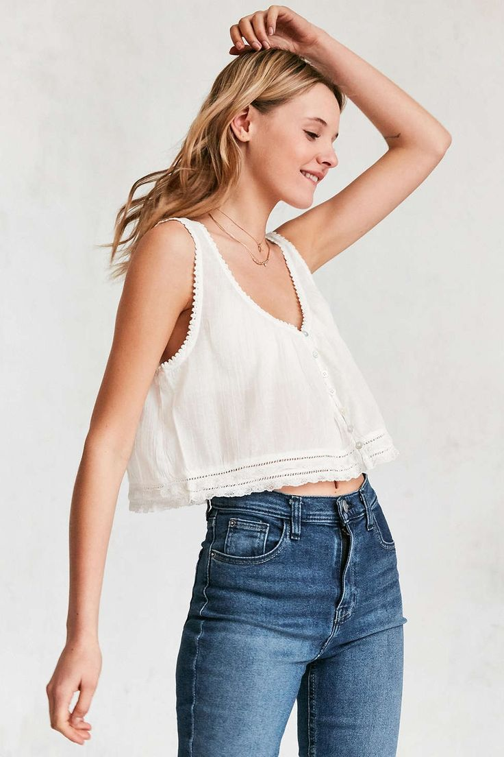 Kimchi Blue Pollyanna Button-Front Cami - Urban Outfitters