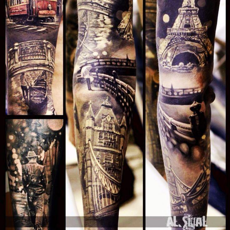 thughes873   #alsegal #sleeve #paris #city    Tattoodo