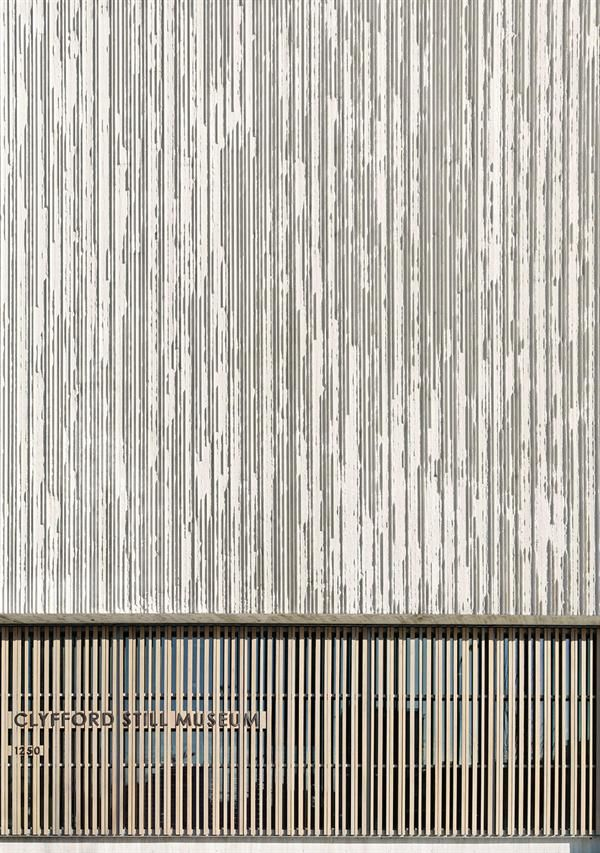 Clyfford still museum by allied works architecture for Precast texture