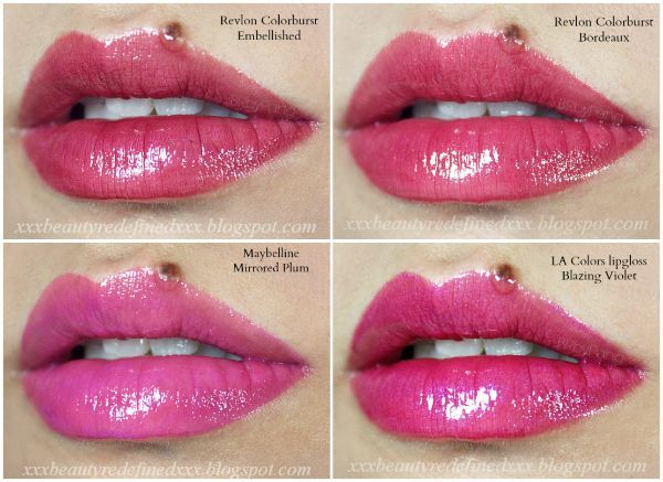 Beautyredefined By Pang Lipgloss Swatches 16 Shades Plums And