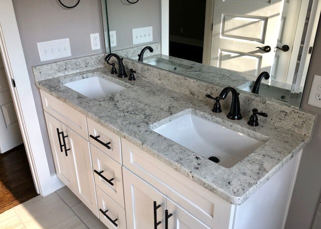 Colonial White Bathroom Countertop With Images Countertops