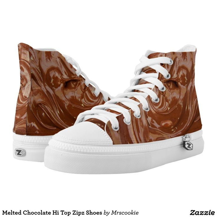 Melted Chocolate Hi Top Zipz Shoes Printed Shoes