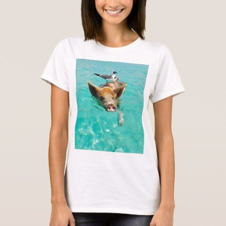 A sea gull and a pig T-Shirt - click/tap to personalize and buy