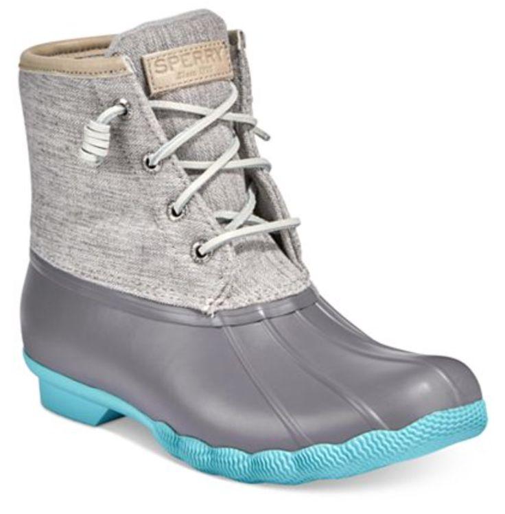 Sperry Saltwater Duck Boot Grey