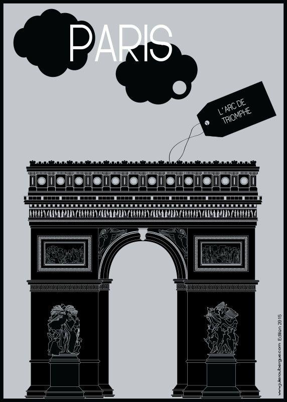 L´Arc de Triomphe - Poster 50x70cm or 30x40cm