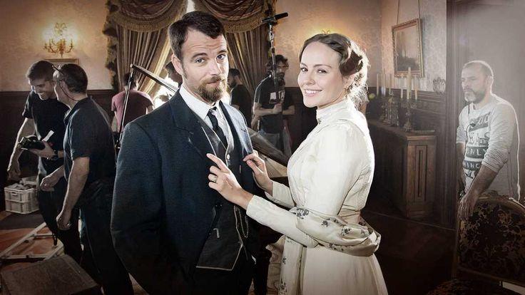 Víctor Ros - Carles Francino y Esmeralda Moya en el rodaje de la segunda temporada