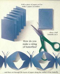 Cadena de mariposas de papel