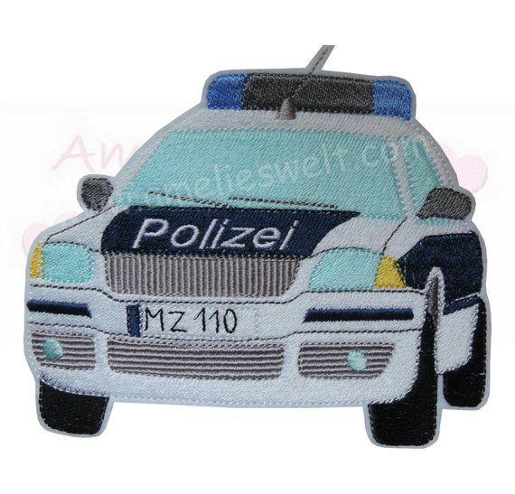 Xl Police Car Patrol Car Application Patch Iron Ingess Sticker Polizeiautos Streifenwagen Polizei