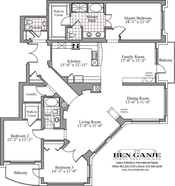 Luxury condos floor plans for Condo house plans