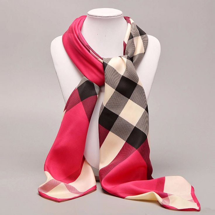 2016 Fashion Women's Scarves Luxury Brand Hot Sale Ladies Classic Plaid Square Stoles Noble Silk Scarf Women Accessories 100*100