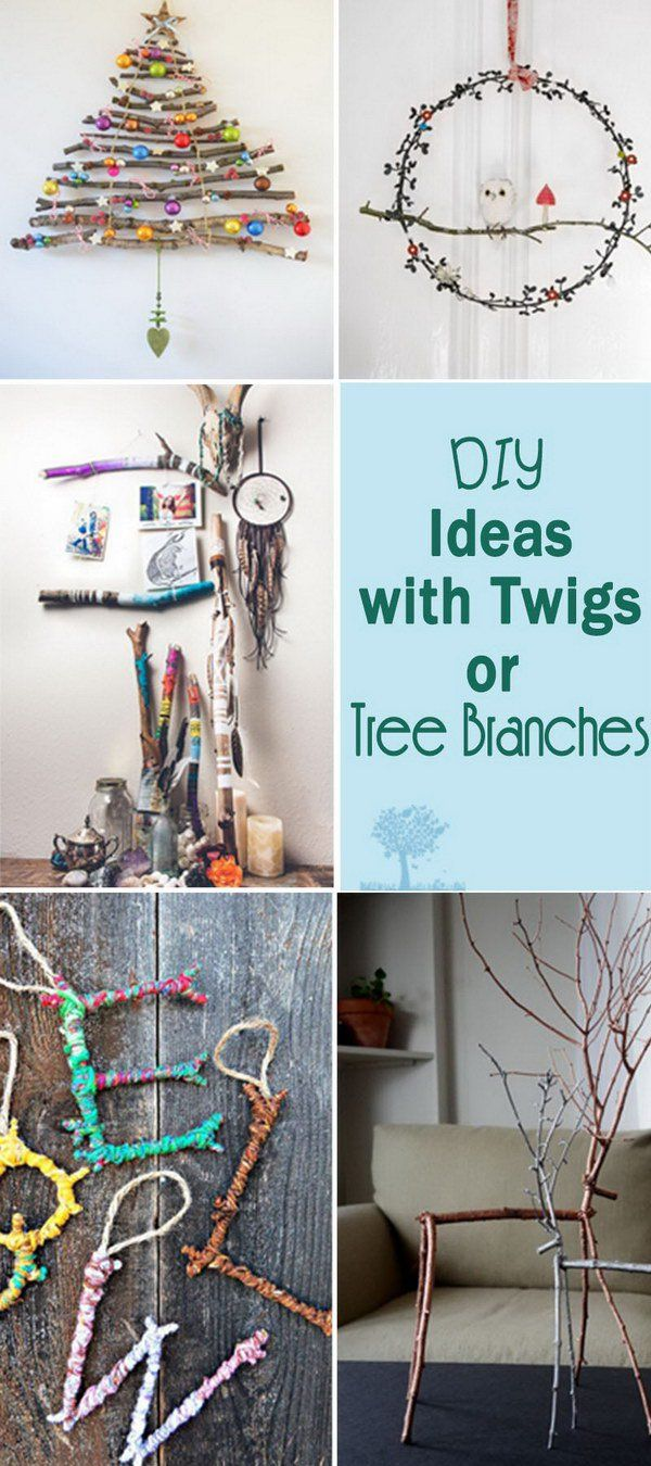 DIY Ideas with Twigs or Tree Branches!