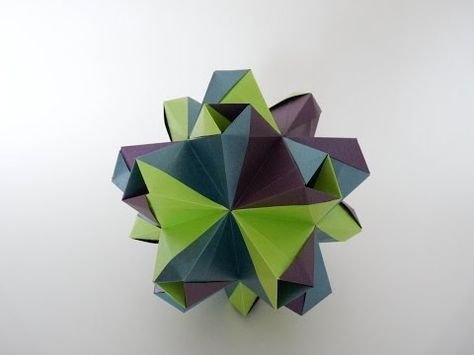 Origami Modular- Fujiyama module-Jun Maekawa - YouTube